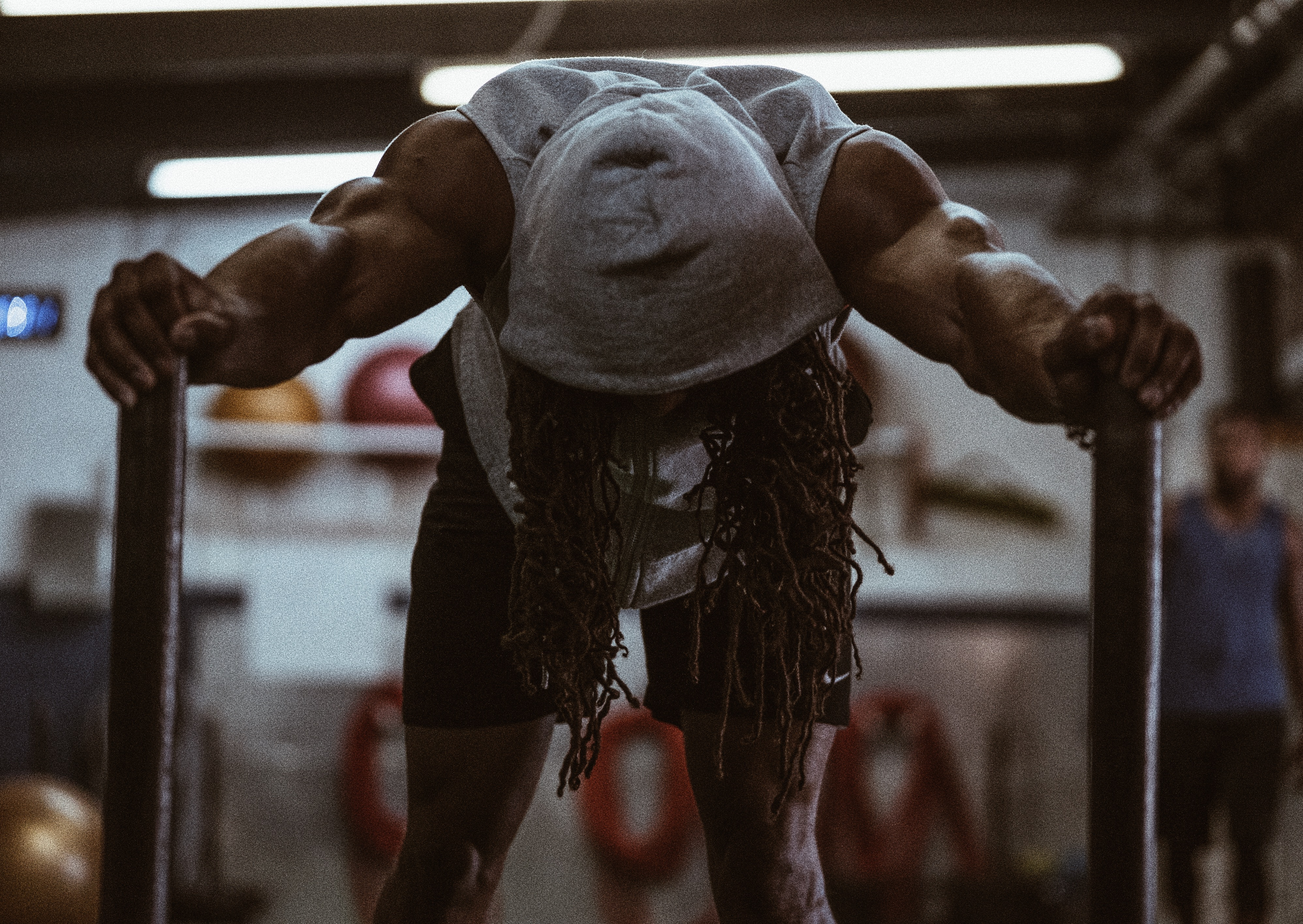 Athlete exercises and practices while struggling with mental health stress