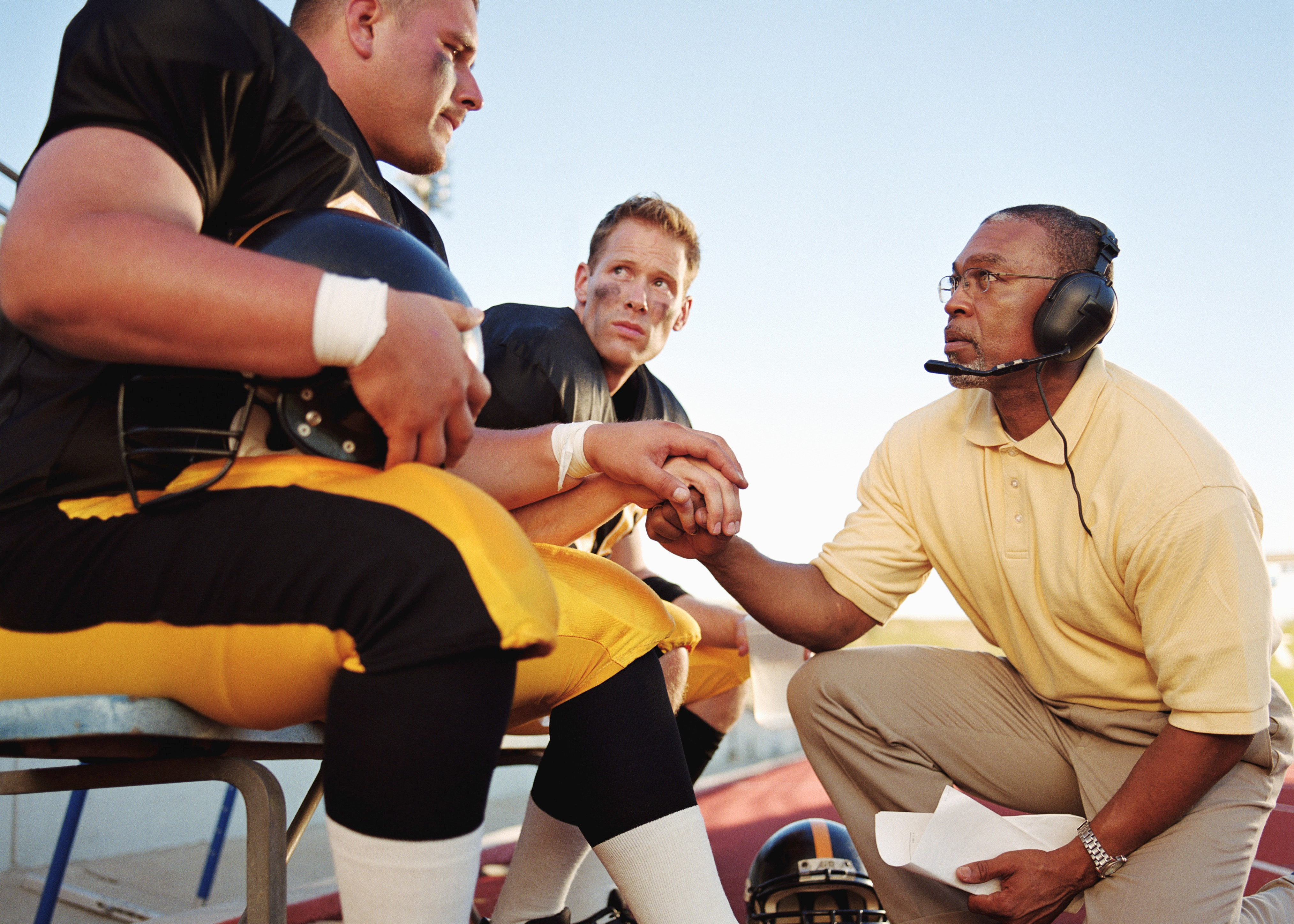 Dedicated coach supports his athlete as he struggles with his mental health during a big game