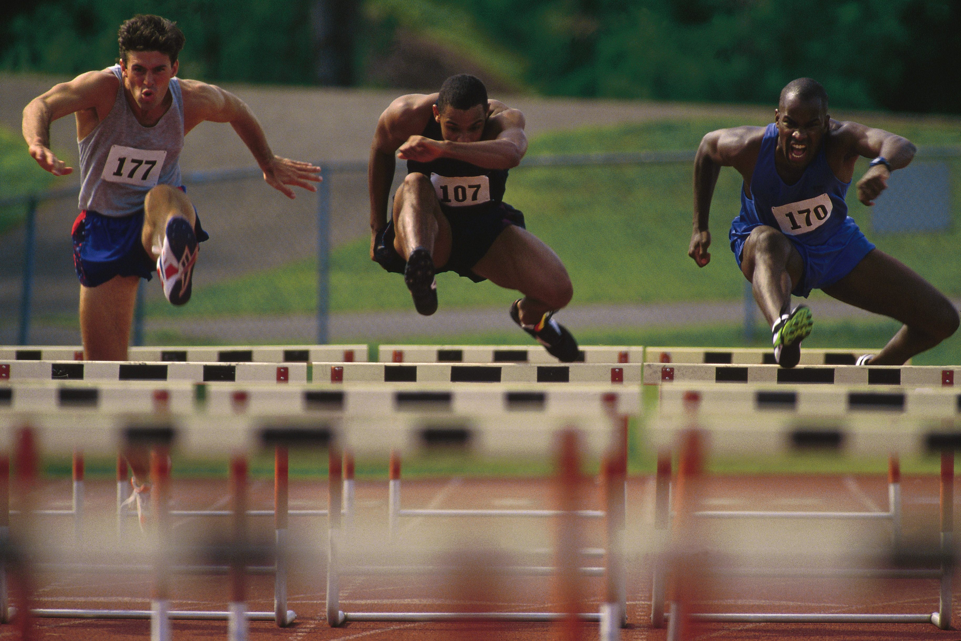 With the pressures of competition, young athletes overcome hurdles both emotionally and physically