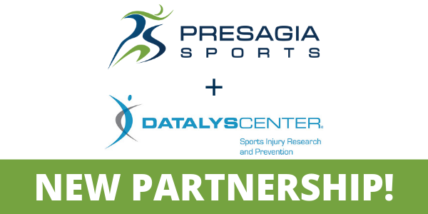 Presagia Sports and the Datalys Center have partnered to advance sports injury research and prevention!