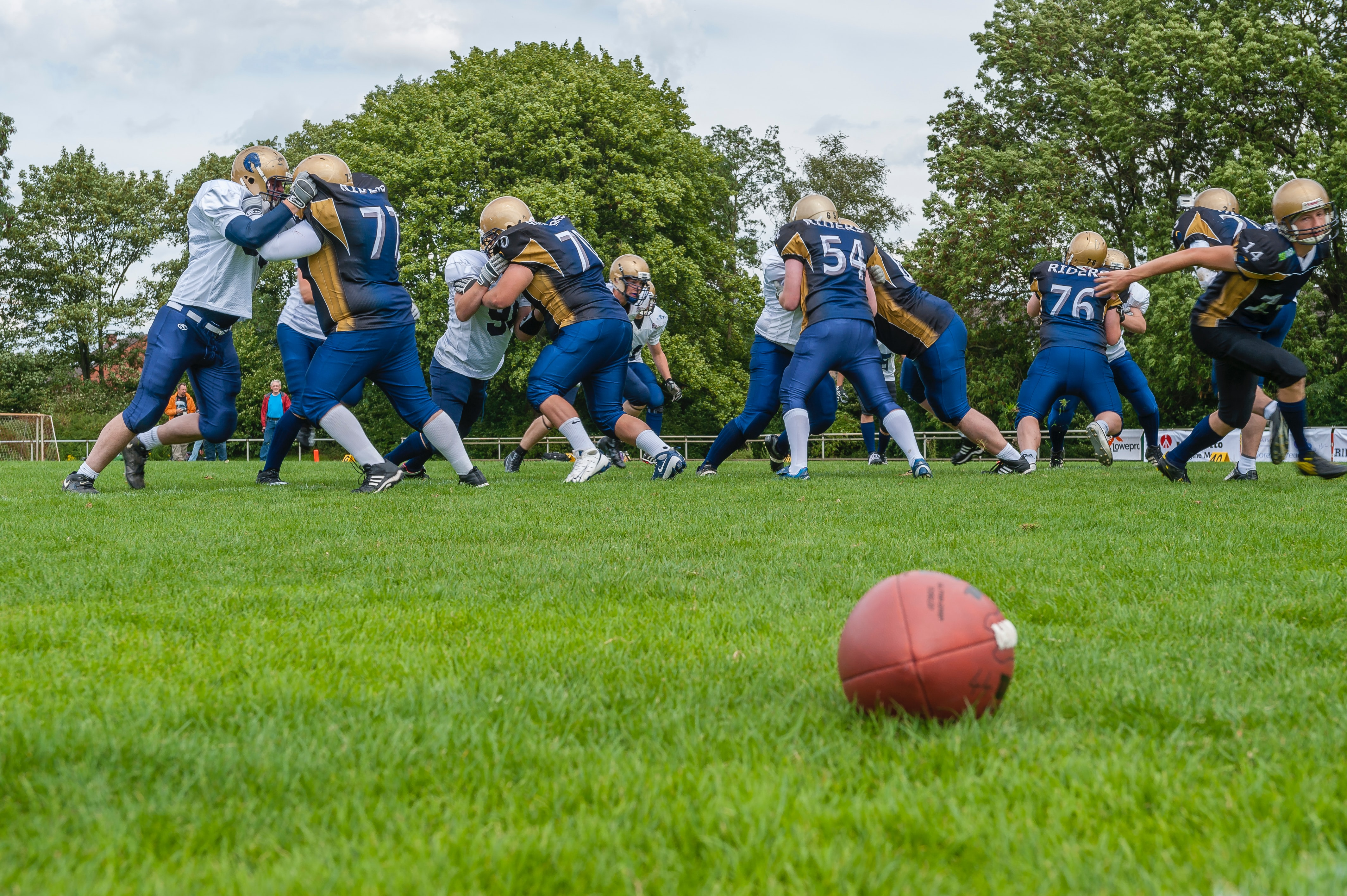 Athletes who are playing football game during COVID-19