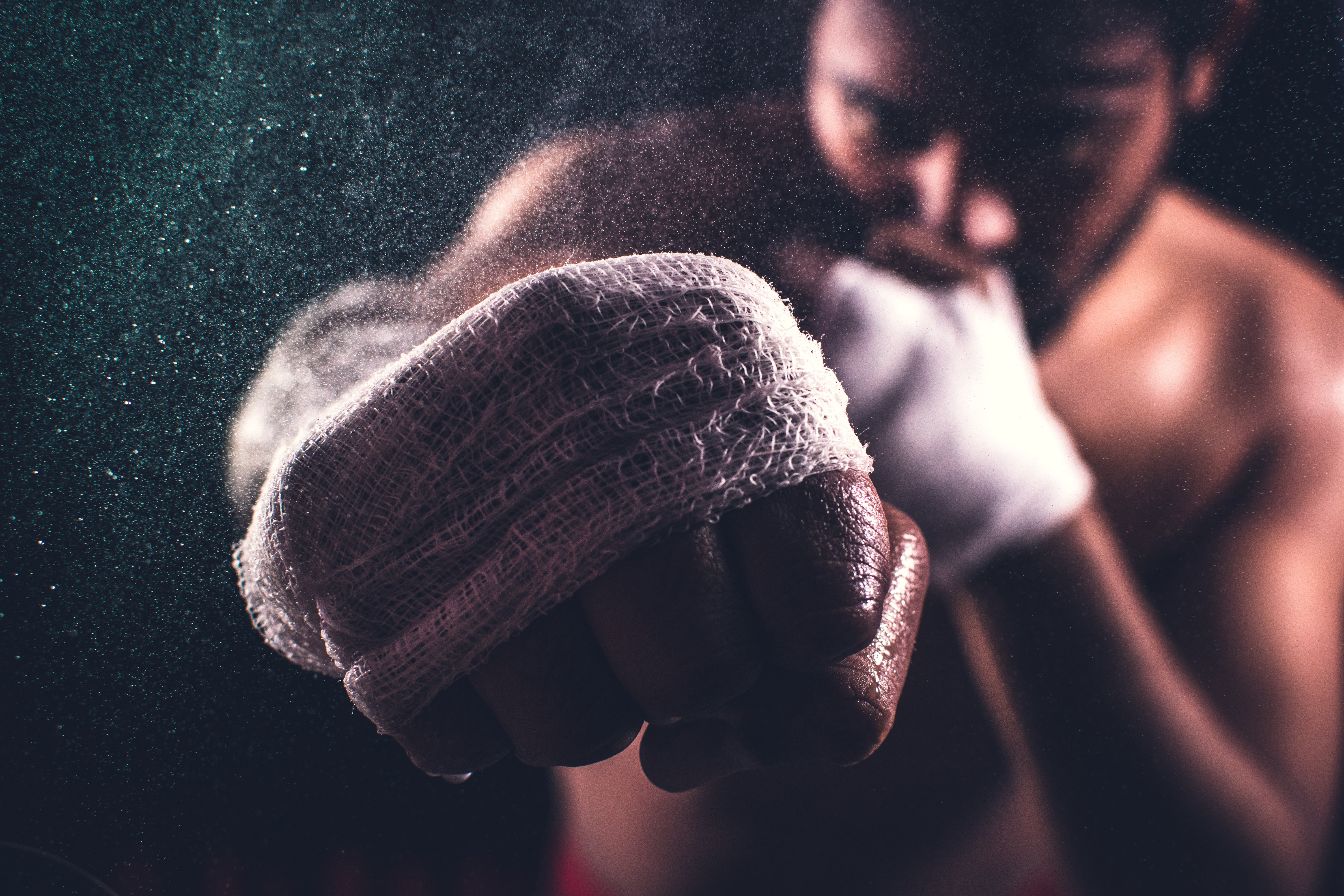 A boxer fighting after being tested for COVID-19