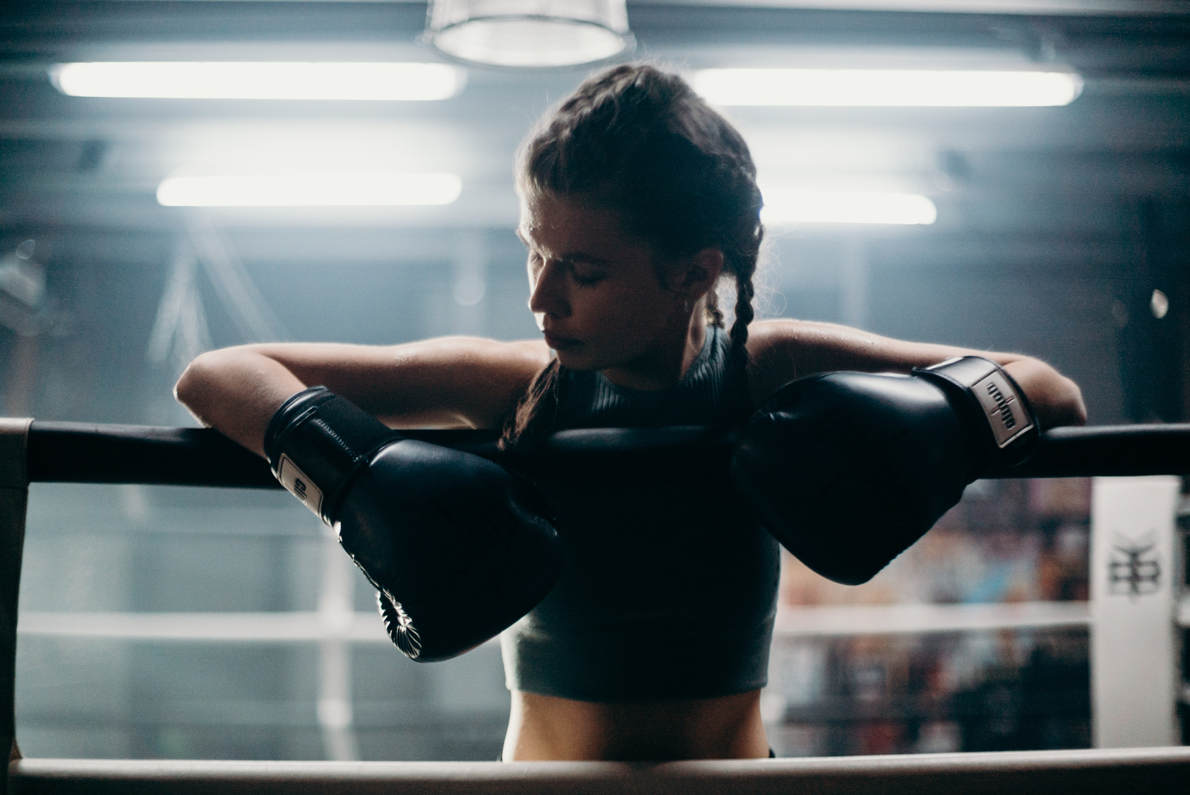 An athlete staying mentally fit with boxing
