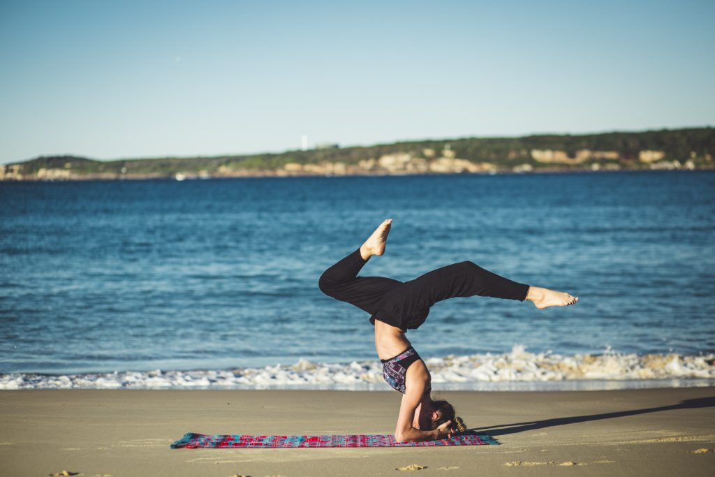 Yoga bringing woman a reduction in stress