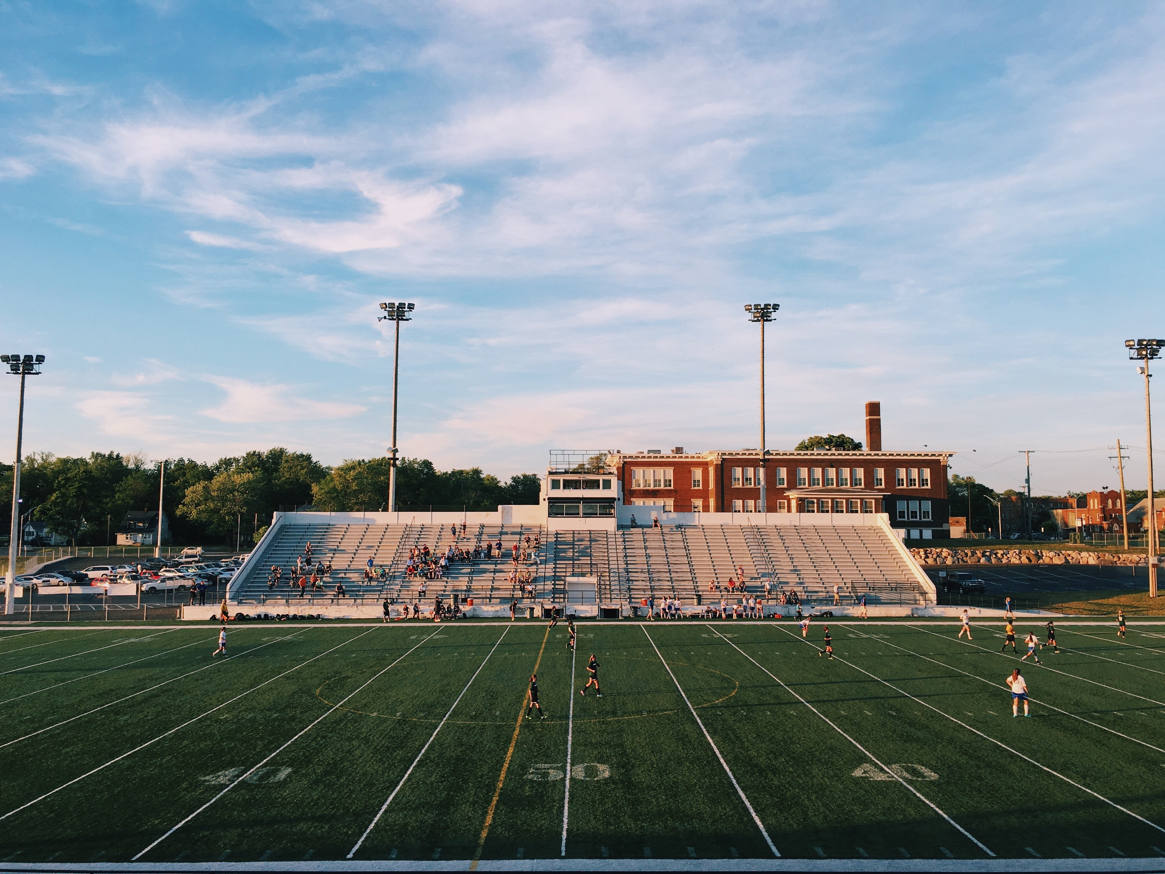 Back to school: how an Athlete EHR system can help: school sports field