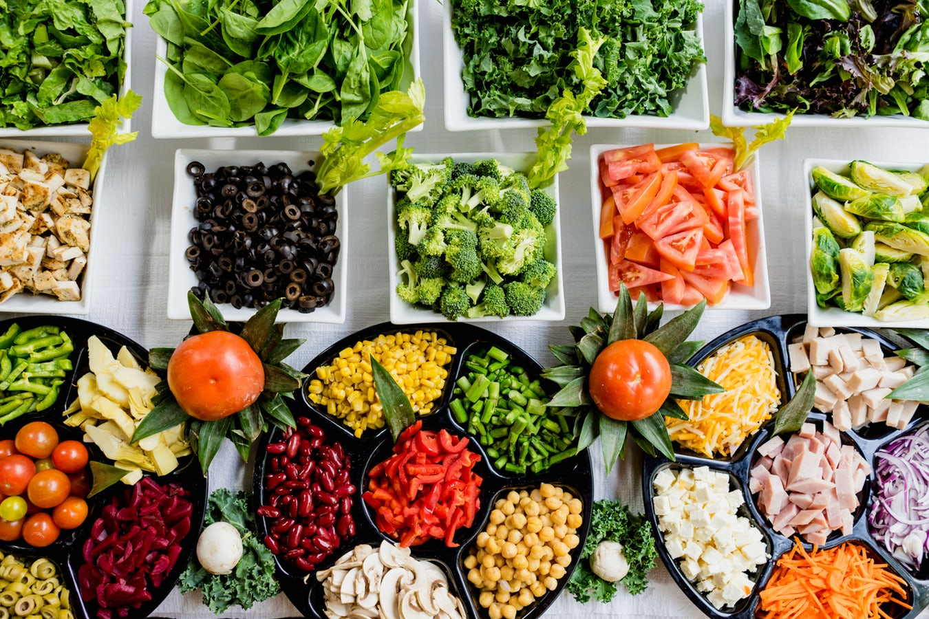 Healthy vegetables and food for athlete nutrition